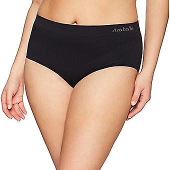 Marque - Arabella Women-apos;s Seamless Brief Panty, 3 Pack,Black/Sunbeige/W...