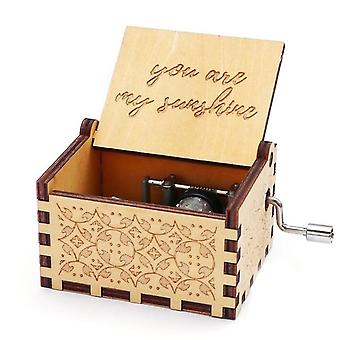 You Are My Sunshine Laser Graved Vintage Cute Wood Music Box