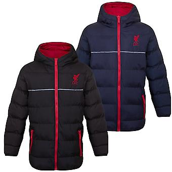 Liverpool FC officiella Fotboll Gift Boys Quilted Hooded Winter Jacket