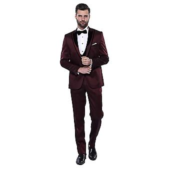 De smoking de veludo estampado burgundy tuxedo | wessi