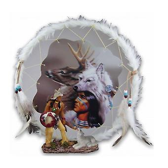 Ornement indien et loup dreamcatcher