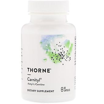 Thorne Research, Carnityl, Acetyl-L-Carnitine, 60 Capsules