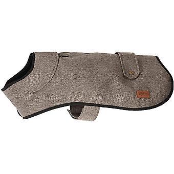 Ancol Heritage Herringbone Coat - Brown - 35cm