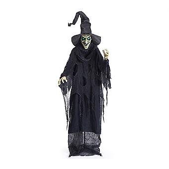 Standing Witch With Light Up Eyes Animated Halloween Prop