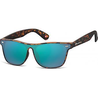 نظارات شمسية يونيسيكس المسافر لهب براون / الفيروز (MS47)
