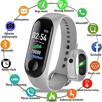 M3 Smart Band Fitness Tracker, Bracelet Heart Rate Monitor Watches, Waterproof