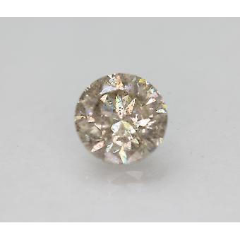 Cert 1.96 قيراط بني فاتح SI2 جولة رائعة المحسنة الماس الطبيعي 7.65mm