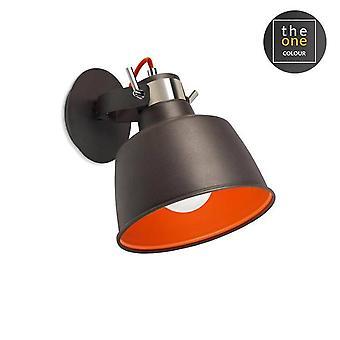 1 Licht Wand / Deckenanhänger grau, Orange, E27