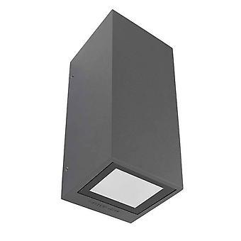 Leds-C4 Afrodita - 2 Light Outdoor Up Down Wall Light Urban Grey IP65, GU10
