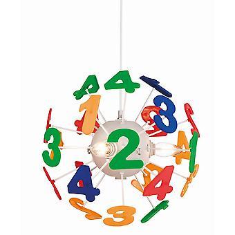 4 Light Children Ceiling Pendant Multicolour, E14