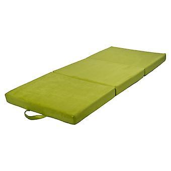 Opvouwbaar matras logeermatras 200x80x10 cm groen