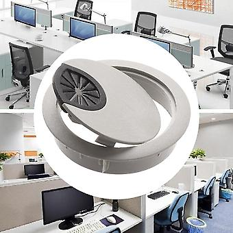 Round Cable Hole Cover Pc Computer Desk Plastic Grommet Wire Hole Covers Outlet
