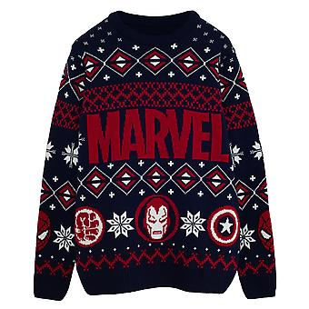 Marvel Comics Hero Icons Men's Knitted Jumper | Official Merchandise
