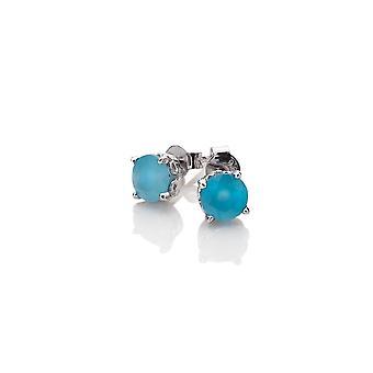 Anais Diamantes Calientes Anais Septiembre Pendientes de ágata Azul AE009