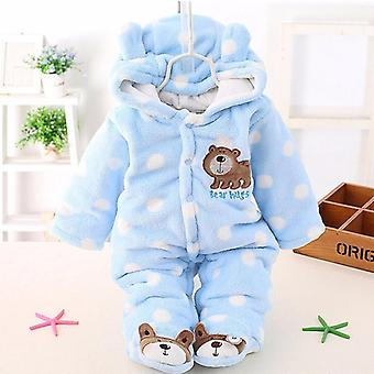 Baby Plus Velvet Thicker Coat- Winter Clothing Bodysuit Newborn Warm Romper Snow Wear Jumpsuits For Girl Cotton