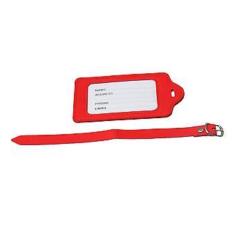 Red Luggage Tags Suitcase Etichetta Nome Indirizzo Borse di viaggio Accessorio