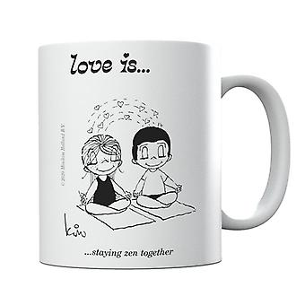 Love Is Staying Zen Together Mug