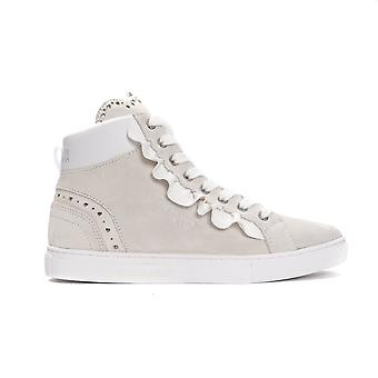 Trussardi Jeans Bianco White High Top Sneakers