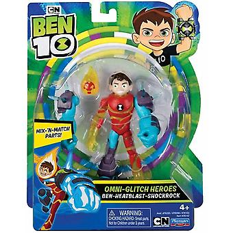 Ben 10 action figure - heatblast omni glitch  for ages 4+