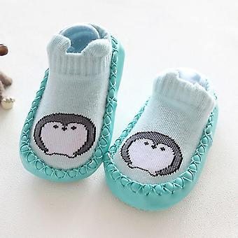Vinter bomuld sko, nyfødte Baby Cartoon Animal Anti-slip Sokker