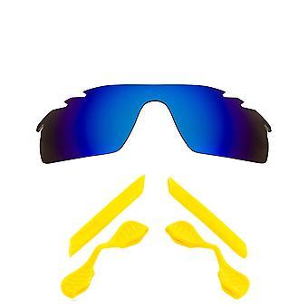 Polarizované náhradní čočky Kit pro Oakley odvětrával Radarlock cesta modrá žlutá Anti-Scratch Anti-Oslnění UV400 SeekOptics