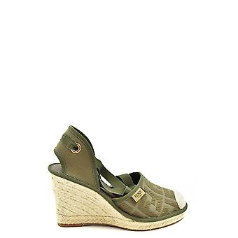 Fendi Ezbc009041 Women's Green Fabric Espadrilles