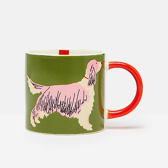 Joules Dog Mug, Dark Green