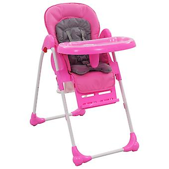 Baby High Chair Pink and Grey