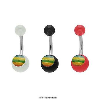 Colorful acrylic belly button rings