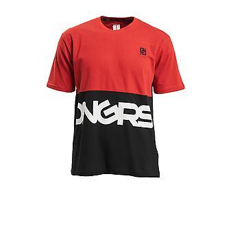 Dangerous Men's T-Shirt Leisure DNGRS Neurotic Top Brand logo print Round neck