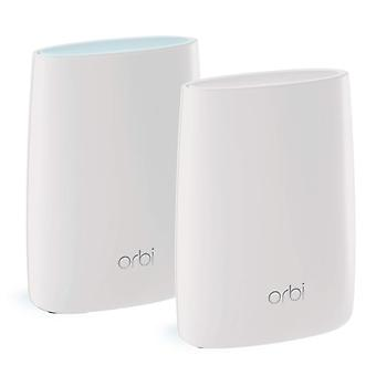 Netgear orbi tri-band whole home mesh wi-fi system with 3gbps speed (rbk50) – router & extender re
