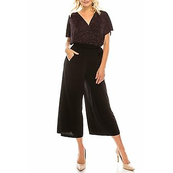 Metallic Belted Culotte Jumpsuit