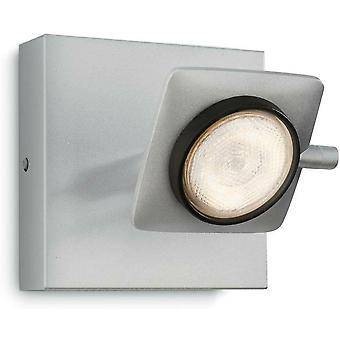 Philips myLiving dimmable warm LED Spotlight Eco & Aluminium finish - 5319048PO