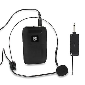Hd Sound Amplifier Headset, Collar Clip, Transmitter Receiver And Wireless
