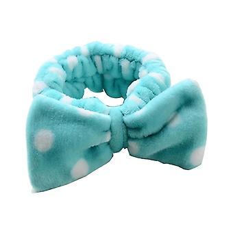 18 * 18cm weiche kosmetische Stirnband Haarteil für Dusche oder Waschen Gesicht blau
