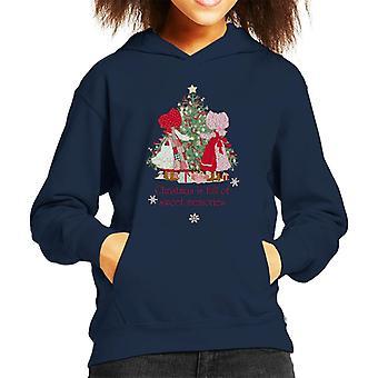 ホリーホビークリスマススウィートメモリーズキッド&アポス;sフードスウェットシャツ