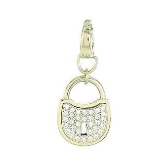 Fossil pendants charms JF00036710 Castle gold rhinestones