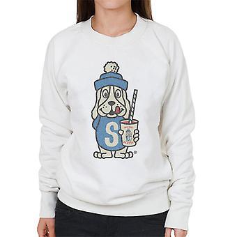Slush Puppie Distressed 70's Logo Art Women's Sweatshirt