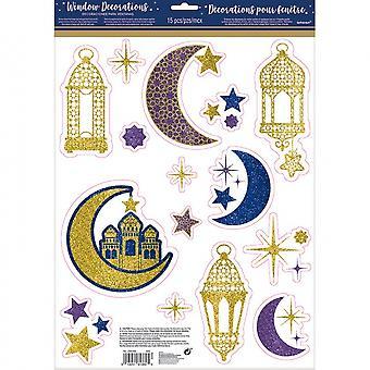 Raamstickers Eid Mubarak 15 Stuks