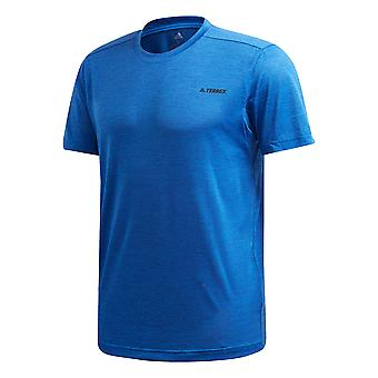 adidas Terrex Tivid Mens Trail Running Outdoor Walking T-Shirt Tee Blue