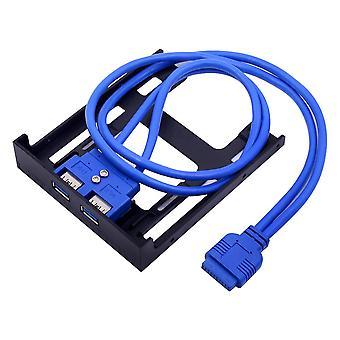 20pin 2 Port Usb3.0 Hub Usb 3.0 Adaptor cablu panou frontal Fdd Suport