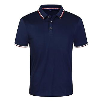 Casual zomer poloshirts mannen, solide korte mouw ademend, anti-pilling