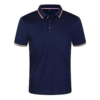Casual Sommer Polo Shirts Mænd, Solid Short Sleeve Åndbar, Anti-pilling