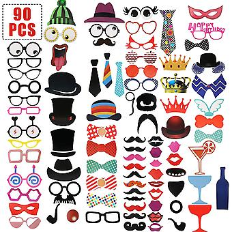 Party Props Photo Booth Frame 2021 New Year Party - 90pcs Design 7