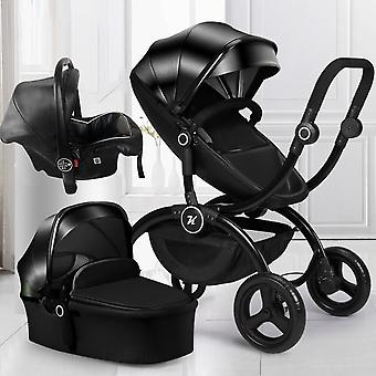 Baby Stroller High, Landscape, Carriage With Car Seat, Pram, Can Sit,