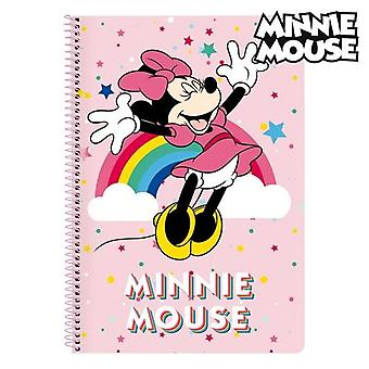 Book of rings minnie mouse pink a4 with rainbow cover