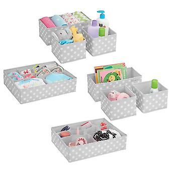 mDesign Kinder Stoff Schubladen/Schrank Aufbewahrung Organizer, Set von 8