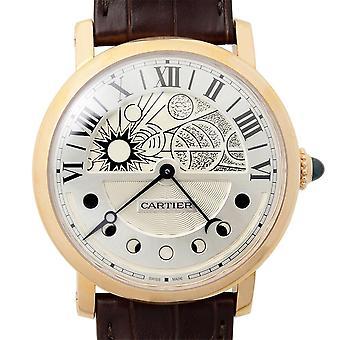Cartier Rotonde Vit Galvaniserad guilloche Dial Herrklocka W1556243