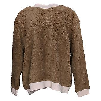 Cuddl Duds Femme Sherpa Pullover Pyjama Brown A381802