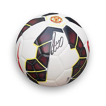 Paul Scholes Signed Manchester United Football White